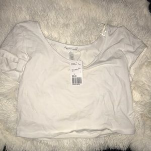White Forever 21/Ambiance Apparel crop top NWT